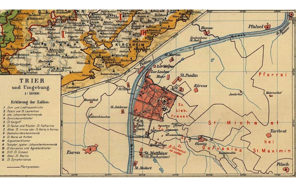 Trier Karte Umgebung.Porta Media Objektansicht