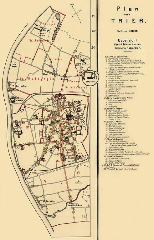 Trier Karte Umgebung.Benediktinerabtei Sankt Matthias Objektansicht