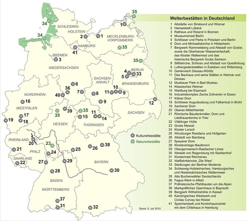 Mittelrheintal Karte.Unesco Welterbestatten In Deutschland Objektansicht
