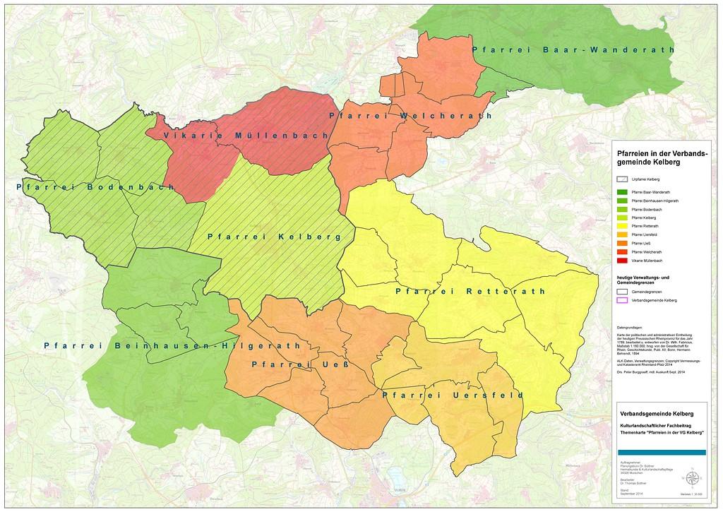 Bistum Trier Karte.Katholische Pfarreien Innerhalb Der Verbandsgemeinde Kelberg