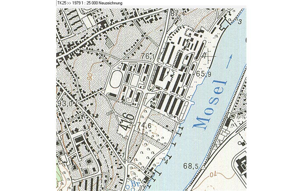 Karte Koblenz.Pionier Kaserne Koblenz Metternich Objektansicht