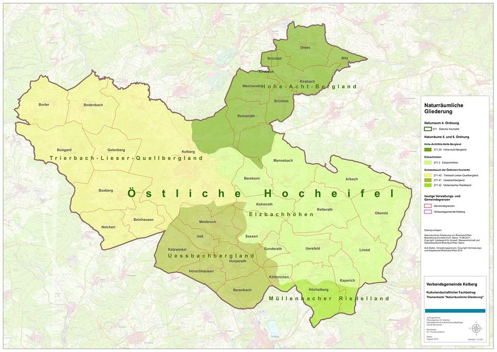 Karte Eifel.Verbandsgemeinde Kelberg Objektansicht