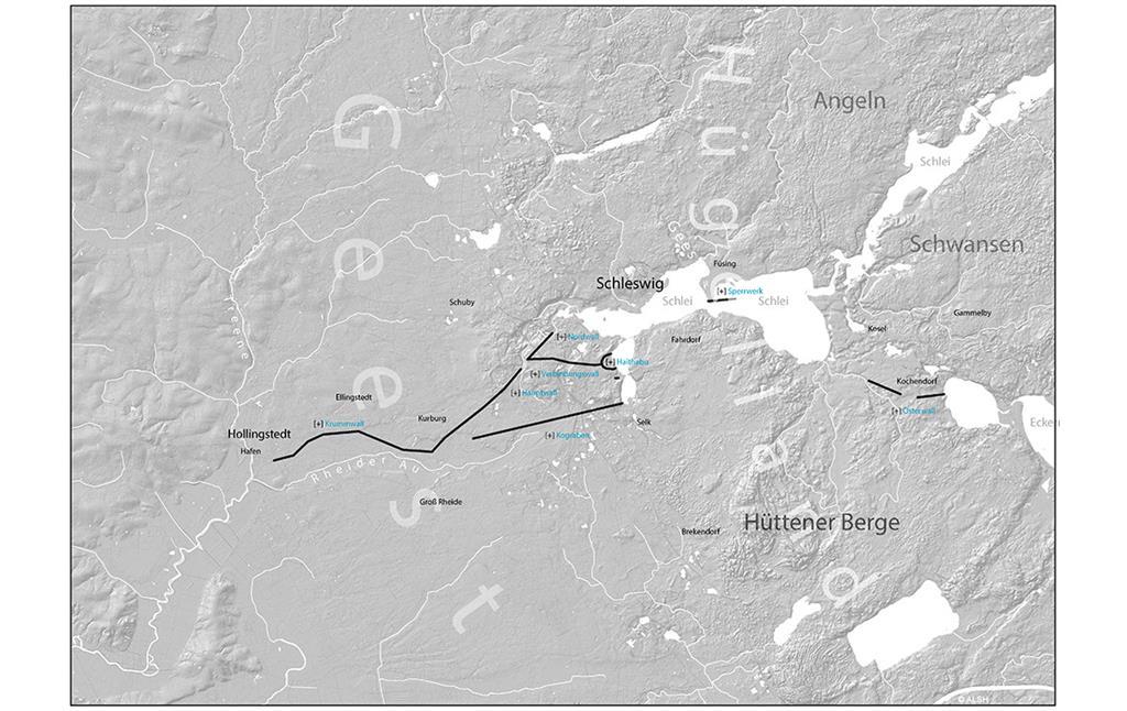 Haithabu Karte.Archaologischer Grenzkomplex Haithabu Und Danewerk Unesco