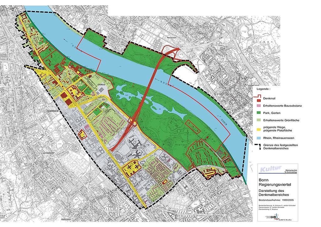 Bonn Karte.Denkmalbereich Regierungsviertel In Bonn Objektansicht