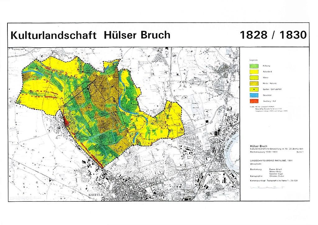 Krefeld Karte.Hülser Bruch Objektansicht