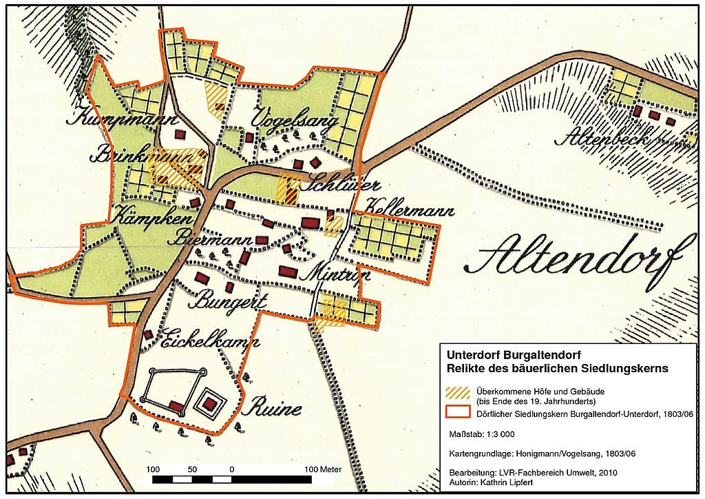 Karte Essen.Stadtteil Essen Burgaltendorf Objektansicht