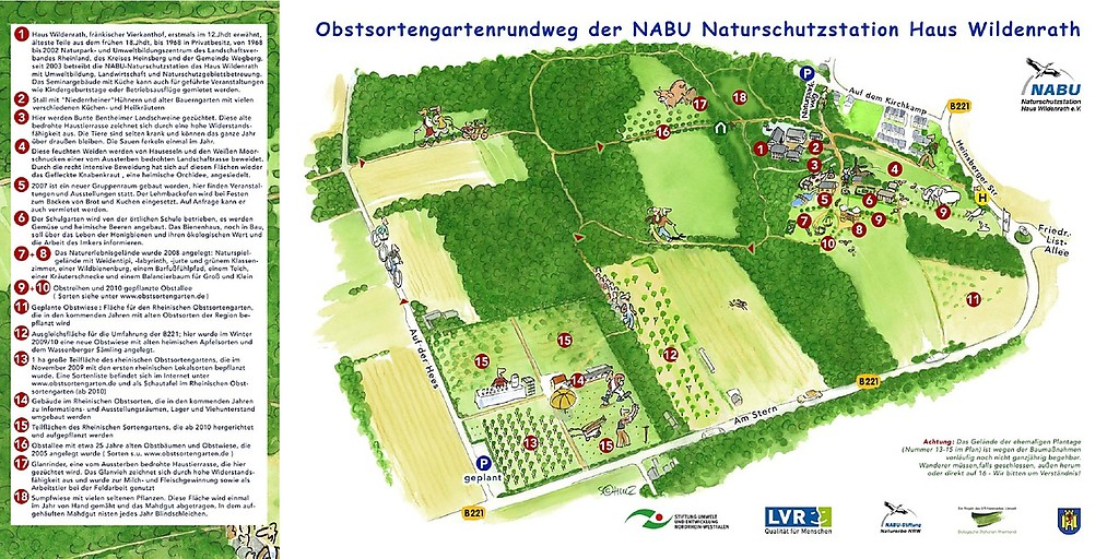 Plan Obstsortengarten Haus Wildenrath